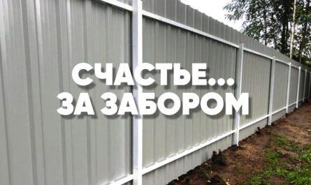 Евроштакетник забор белый полукруглый профнастил - 0
